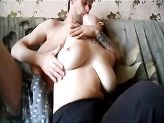 Homemade porn featuring busty female
