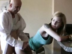Amateur tattoed girl fucks by mature man